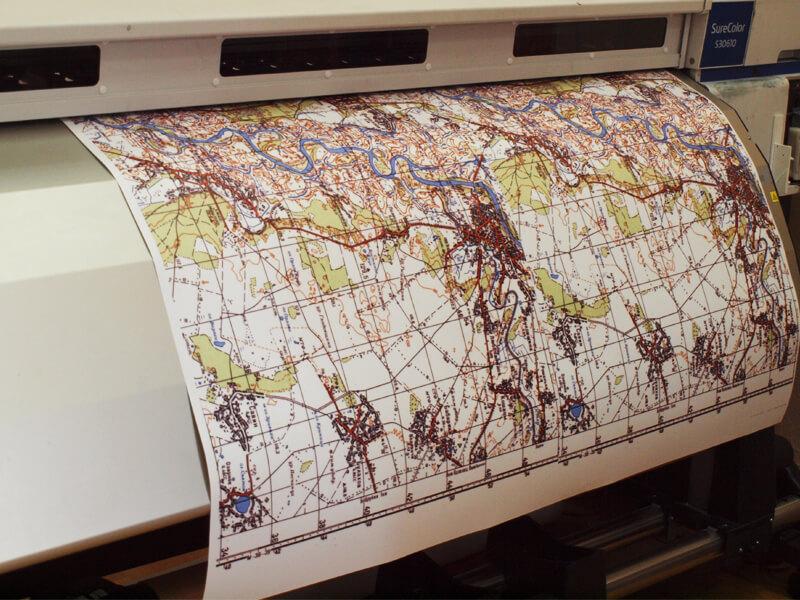 Широкоформатная печать карт
